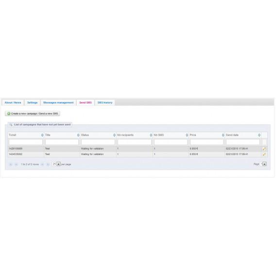 Module SendSMS : messages automatiques et campagnes marketing