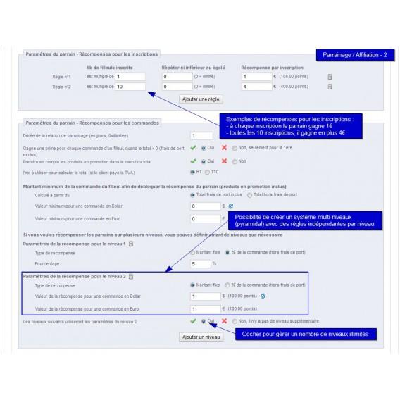 parrainage et affiliation prestashop - All-in-one Rewards - page 2